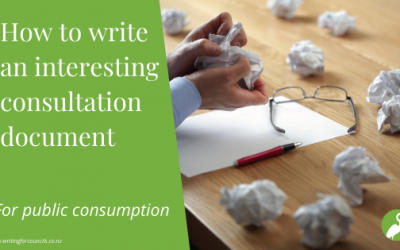 How to write an interesting consultation document
