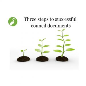 Free guide - three steps to successful council documents